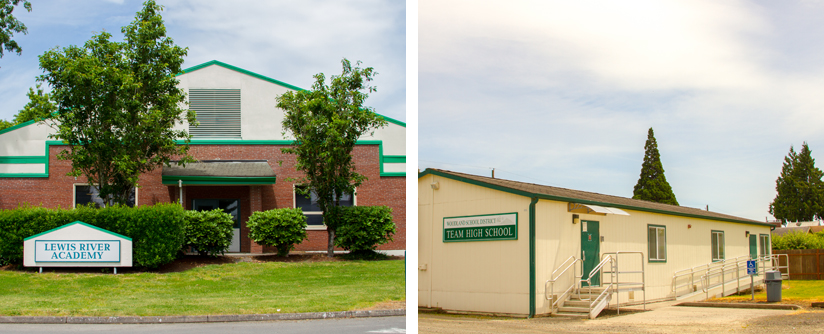 Woodland Public Schools' remote learning offerings: Lewis River Academy for Grades K-8 and TEAM High School for Grades 9-12